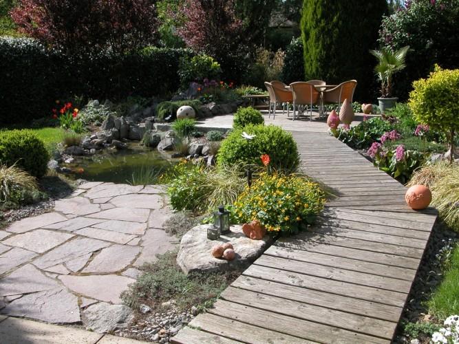 Gartenlandschaft in Freiburg
